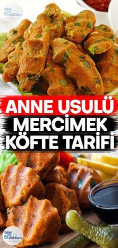 Kolay Mercimek Köftesi Yapımı Tandoori Chicken, Chicken Wings, Vegan Recipes, Food And Drink, Appetizers, Cooking, Ethnic Recipes, Food, Kitchens