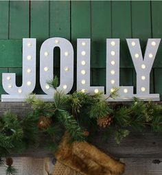 If your guests need to be reminded what the holiday is all about, hang a cheery, seasonal phrase.