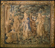 """Antique French Tapestry Wall Hanging  17th Century, 9'6"""" x 10', Tapestry"""