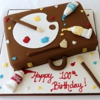 Paint Box Cake Art, Art Cakes, Painted Boxes, Sweet Cakes, Celebration Cakes, Cakes And More, Birthday, Desserts, Food
