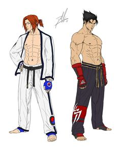 Tekken Revised: Hwoarang and Jin (Color Only) by DHK88 on deviantART