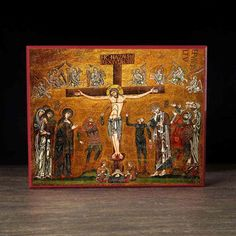 Crucifixion of Christ (Mosaic) Icon - F123 - Legacy Icons