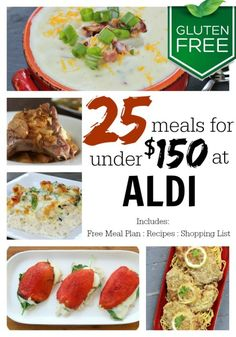 Are you looking to save money when eating #glutenfree? Here is a complete meal plan where you can make 25 gluten-free meals for under $150.00!