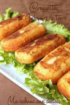 Recipe potato croquettes, or gourmet house potato, easy and quick which can be present on the Ramadan tables as a … Healthy Dinner Recipes, Snack Recipes, Cooking Recipes, Fingers Food, Food Porn, Health Dinner, Cordon Bleu, Vegan Dinners, Good Food