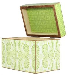 Sophisticated Lime Recipe Box