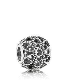Pandora Charm - Sterling Silver Roses, Moments Collection