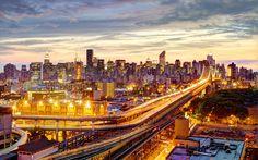 Sunset Manhattan Bridge