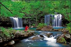 Natural waterfalls in Arkansas -- Falling Waterfalls is in Roadtripper's list of North America's 6 Best Swimming Holes