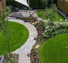 Circular Garden Design, Back Garden Design, Garden Design Plans, Modern Garden Design, Backyard Garden Design, Small Garden Ideas Modern, Small Garden Landscape Design, Backyard Layout, Modern Design
