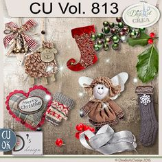 CU Vol. 813 {Christmas}by Doudou's Design Description:  This set contents 12 elements created and/or photographed and/or extracted by myself.  Shadows only on preview