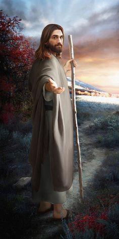 Image Jesus, Pictures Of Jesus Christ, Catholic Pictures, Lds Pictures, Color Pictures, Easter Pictures Of Jesus, Images Of Christ, Lds Art, Jesus Painting