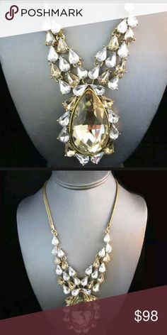 Brighton bay gold.pear drop necklace new Brighton bay necklace. nwot. pearl drop and such a lovely statement peice Brighton  Jewelry Necklaces