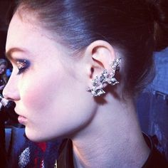 The earrings at #thakoon were gorgeous #nyfw #fashion #models #fonyfw