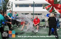 Staff and students drenched the facilities team for the asl Ice bucket challenge back in the summer! #WCCBESTOF14