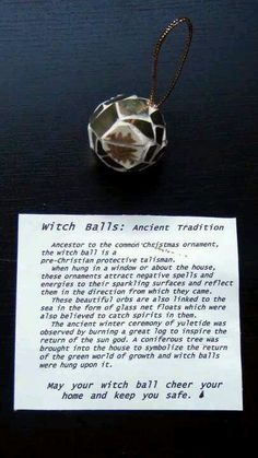<3 Witch Balls - Yule - Winter Solstice -- Pinned by The Mystic's Emporium on…