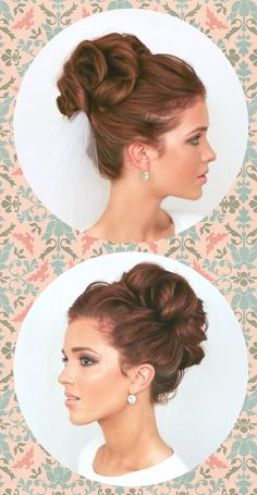 Emily creator of 'The Freckled Fox' blog created this look. The high curly bun is voluminous and delightful.