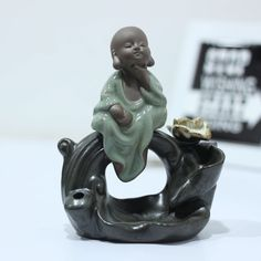 Giftii.in: Beautifull Little Monk Incense Backflow Burner for home decor, The Pretty Little Monk Buddha Smoke Backfall. ✓Free Shipping ✓COD Available. Pretty Little, Incense, Cod, Buddha, Smoke, Statue, Free Shipping, Home Decor, Decoration Home