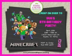 Minecraft Invitation for Girls!