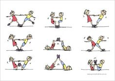 Bilderesultater for gymnastics partner balance activities Pe Activities, Gross Motor Activities, Gross Motor Skills, Educational Activities, Partner Yoga, Partner Stretches, Yoga For Kids, Exercise For Kids, Crossfit Kids