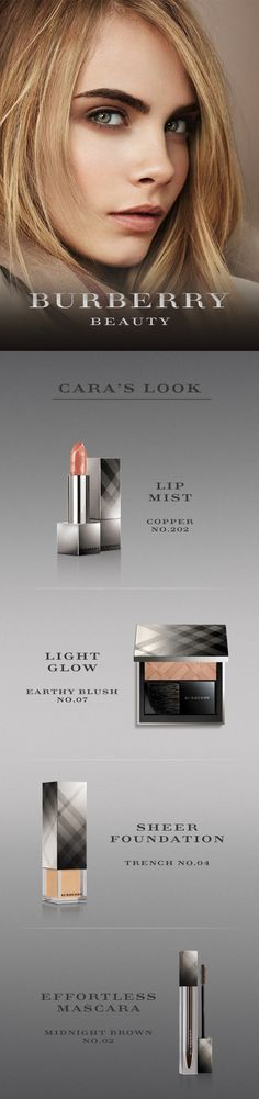 Burberry Beauty - Cara's Look. We love Burberry Lip Mist in Copper! www.glossybox.com