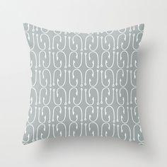 Gray Fish Hook Pillow Cover fishing decor lake by RiverOakStudio, $35.00