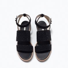 ZARA - NEW THIS WEEK - FLAT SANDALS WITH SHINY DETAILS