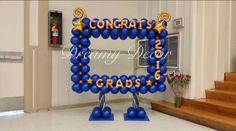 Balloon Frame, Balloon Columns, Balloon Wall, Balloon Arch, Graduation Balloons, Graduation Decorations, Graduation Party Decor, Graduation Photos, Backdrop Decorations