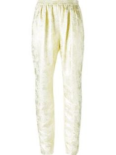 metallic front high waist trousers $917 #Farfetch #style #DesigerClothing