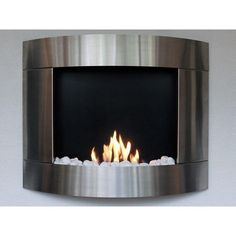 Modern Curved Ethanol Wall Fireplaces