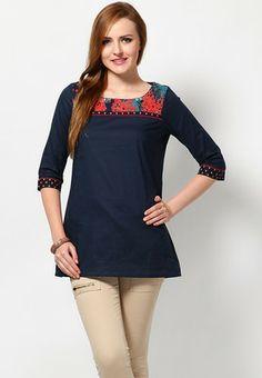 W Cotton Solids Blue Kurtis & Kurtas - Buy Women Kurtas & Kurtis Online   XW574WA41XRYINDFAS