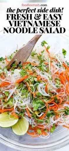 salad recipes salad recipes pasta salad recipes spinach salad recipes salad recipes salad recipes with shrimp salad recipes salad recipes Vermicelli Rice Noodle Recipe, Vermicelli Salad, Vermicelli Recipes, Rice Noodle Recipes, Rice Noodles, Spinach Salad Recipes, Easy Salad Recipes, Salad Dressing Recipes, Chicken Salad Recipes