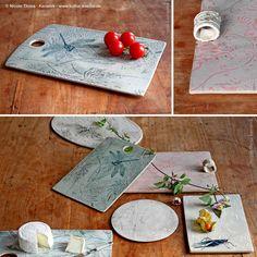 Tolle Frühstücksbrettchen mit Mustern und Ornamenten von Nicole Thoss