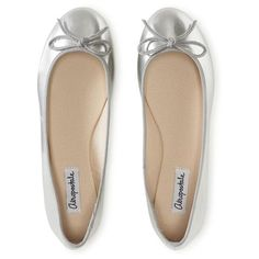 Shop for Solid Shine Ballet Flat by Aeropostale at ShopStyle. Ballet Flats Outfit, Ballerina Shoes, Chanel Ballet Flats, Dress Shoes, Women's Shoes, Aeropostale, Shoes World, Silver Flats, Guys And Girls