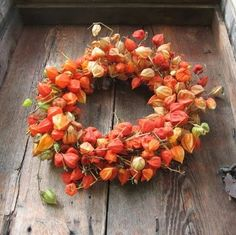 Chinese lantern wreath!
