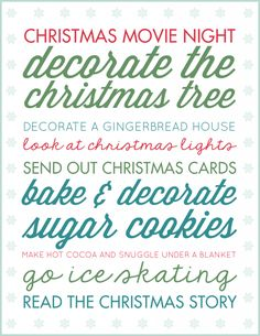 Make the most of the Holiday Season and focus on the moments that matter with a printable Christmas bucket list! Looks super cute in a frame and you can cross off each idea with a dry erase marker as your family completes them. Get ready to make this year your best December yet! #ad