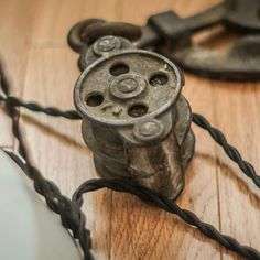 Thinking about selling my Pendant Lamp Barn Pulleys and cloth covered wire. Interested? Send me a message. It just didn't match my room decor. #barnpulley #barn #vintage #antique #lamp #ceilinglight #forsale #selling