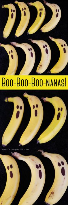 Boo-nanas! | 5 Easy Halloween Food Ideas