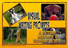 Picture writing prompts are a great way to spark students' creativity.  This set includes twenty pictures of funny situations (four per A4 sheet) that can be printed, cut and laminated for use in your writing workshop or in a center.