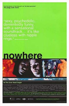 """The third film in a trilogy by writer-director Gregg Araki. Described as on acid"""", the film tells the story of a day in the lives of a group of high school kids in Los Angeles and the strange lives they lead. Movie Shots, Movie Tv, Doom Generation, Gain Likes, Larry Clark, Fiction Movies, Science Fiction, Film Inspiration, Movie Posters"""