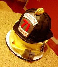 We're doing a partially themed wedding anf this is perfect! Firefighter Grooms Cake, Fireman Wedding, Fire Fighter Cake, Firefighter Pictures, Cake Boss, Cute Cakes, Girls Dream, Celebration Cakes, Themed Cakes