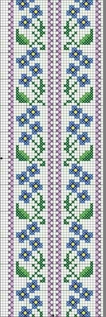 SENCILLEZ Do you sell this pattern for the cross stitching? Regards Carmen Wacher from Mexico Cross Stitch Bookmarks, Cross Stitch Borders, Cross Stitch Flowers, Cross Stitch Designs, Cross Stitching, Cross Stitch Embroidery, Embroidery Patterns, Cross Stitch Patterns, Motifs Perler