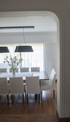 - by alejandra nusenovich Dining Room, Dining Table, Home Reno, Sweet Home, Jessie, Orlando, Kitchen, Furniture, Lighting