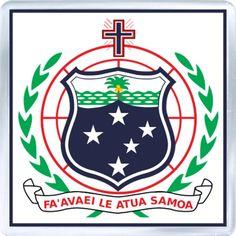 $3.29 - Acrylic Fridge Magnet: Samoa. Coat of Arms of Samoa