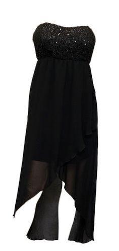 Plus size Sequined Bodice High-Low Chiffon Dress Black - 1X eVogues Apparel,http://www.amazon.com/dp/B00A0I8BBC/ref=cm_sw_r_pi_dp_33EHrb2753974DAC