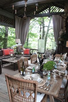 Gorgeous, rustic porch