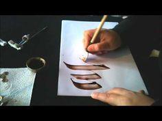 Excelente video de demostración de diferentes tipos de escritura segun la pluma - Y en el sitio web hay más... http://www.luthis.com.ar/