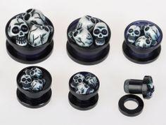 1x Gothic/Punk Skull Ear Plug,Sizes 6mm-16mm,Brand New,Same Day Dispatch   eBay