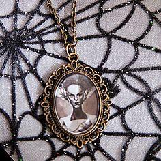 Bride of Frankenstein Necklace by Goraline on Etsy, $8.00