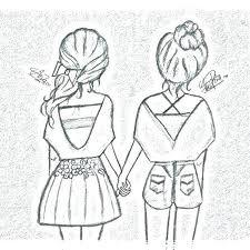 Resultado De Imagen De Dibujos Kawaii Para Colorear Amistad