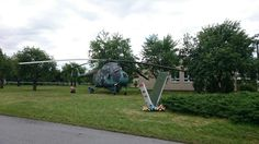 Old army helicopter Mi Mil 4
